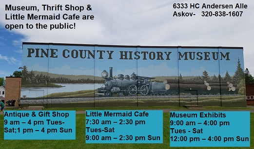 Museum, Little Mermaid, Pine County, Historical, Shops