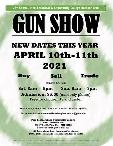 Gun, exhibits, sales, Pine City