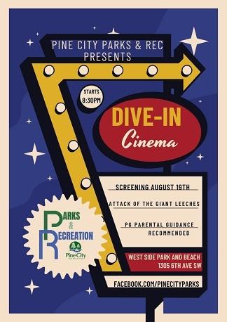 cinema, parks, recreation, pine city