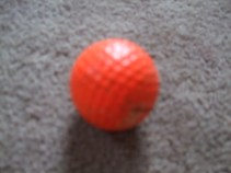 orange, golf ball