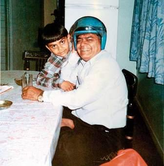 Virat Kohli with his father