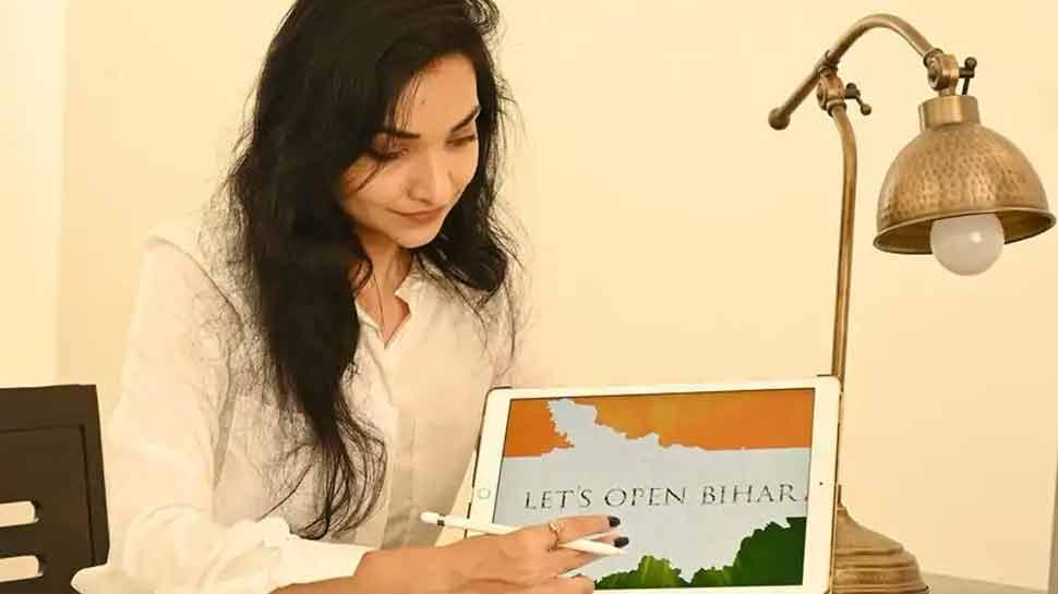 Pushpam Priya Chaudhary made a film entry in Bihar politics   लंदन से पढ़कर लौटी 'ब्लैक ड्रेस' वाली लड़की, जिसने बिहार की राजनीति में की फिल्मी एंट्री   Hindi News,