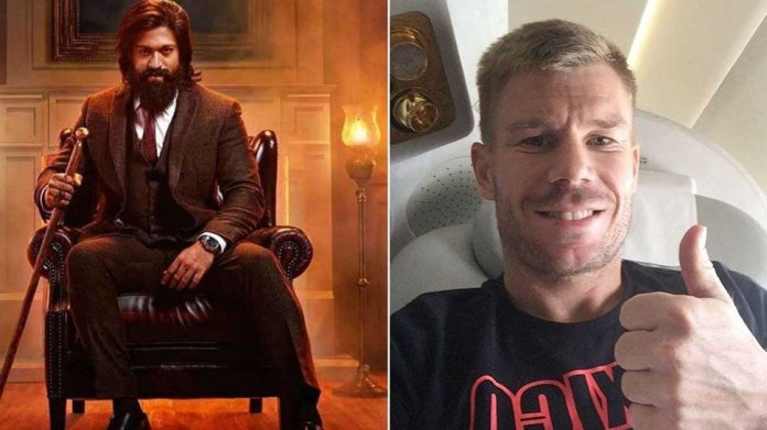David Warner is also waiting for KGF 2!  Looked like Yash
