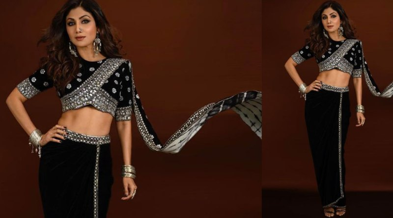 Shilpa Shetty wreaks havoc in a black sari, will be stunned to know the price