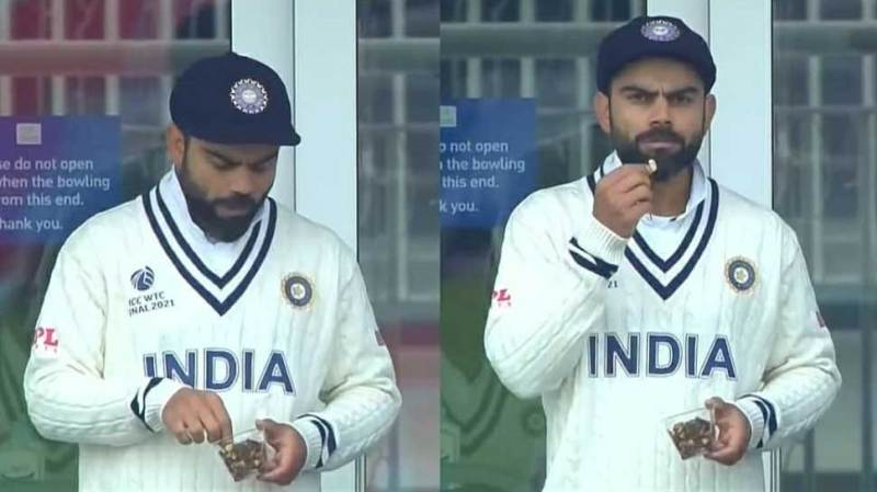 ICC WTC Final: Virat Kohli was seen eating outside the dressing room, fans said - 'First pet worship'