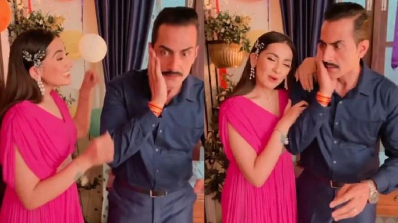 Anupama fame Anagha Bhosale aka Nandini slapped sudhanshu pandey aka vanraj |  Anupama's daughter-in-law slaps Vanraj, Video Viral