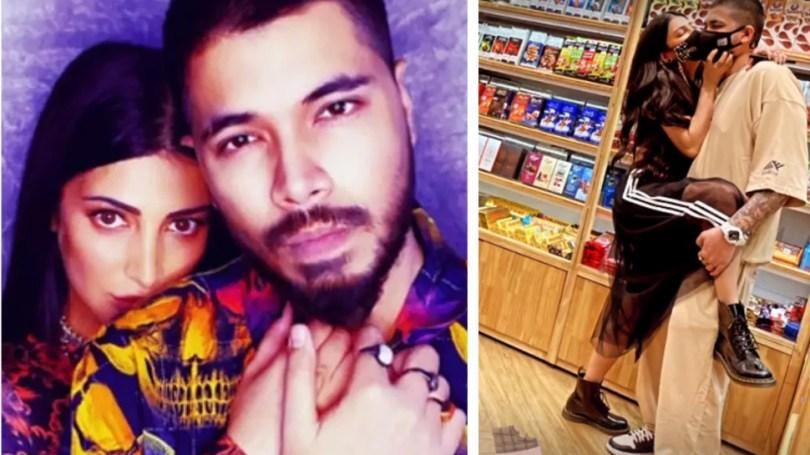 Shruti Haasan Kissed Her Boyfriend in public place    Shruti Haasan kisses her boyfriend openly, romantic while shopping