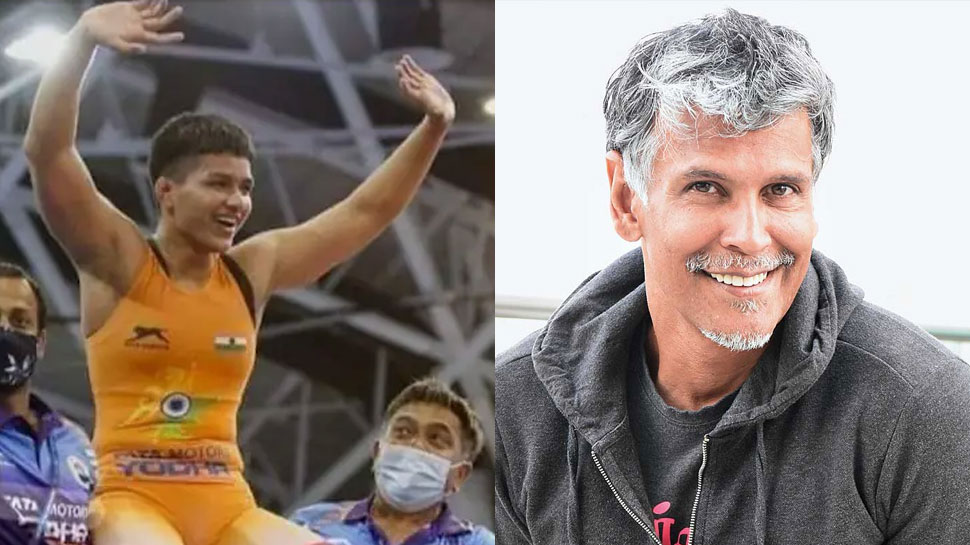 Milind Soman congratulates Priya Malik on winning the gold medal in the Olympics, gets trolled    Milind Soman congratulated Priya Malik, trolled fiercely;  heart winning answer given