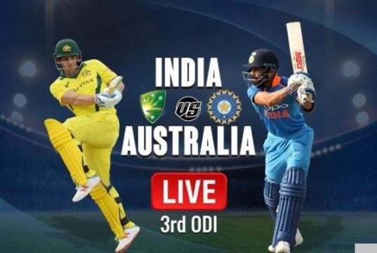 IND vs AUS 3rd ODI Match Live Score Update: ऑस्ट्रेलिया के 6 विकेट गिरे