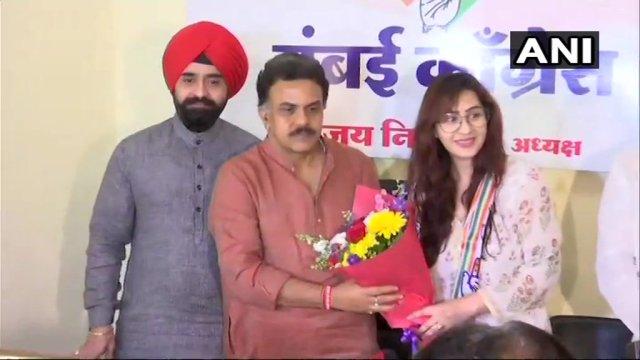 कांग्रेस पार्टी में शामिल हुई 'अंगूरी भाभी' शिल्पा शिंदे