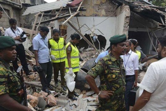 श्रीलंका के पुगोडा शहर में सुनी गई धमाके की आवाज
