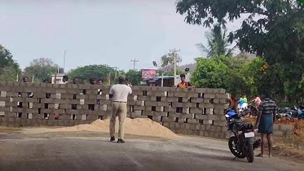 तमिल नाडु आन्ध्र प्रदेश बॉर्डर दीवार वाहन को रोकने के लिए जानकारी