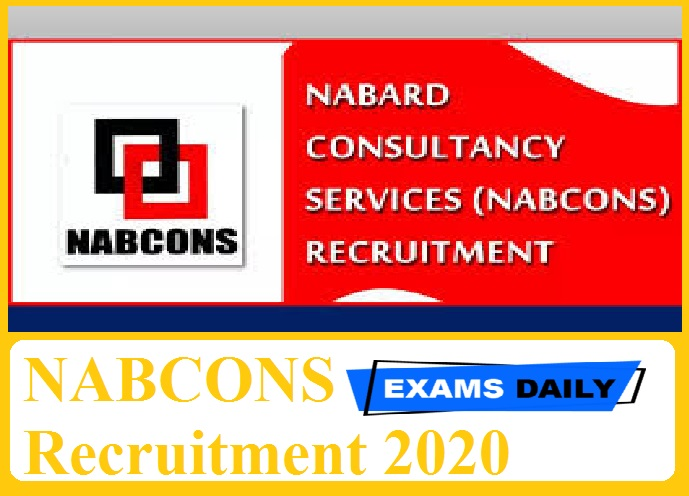 NABCONS Recruitment 2020 Out – Apply Online for Team Leader, DEO & Other Posts Here!!!