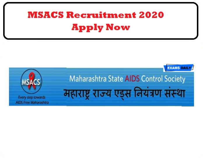 MSACS Recruitment 2020