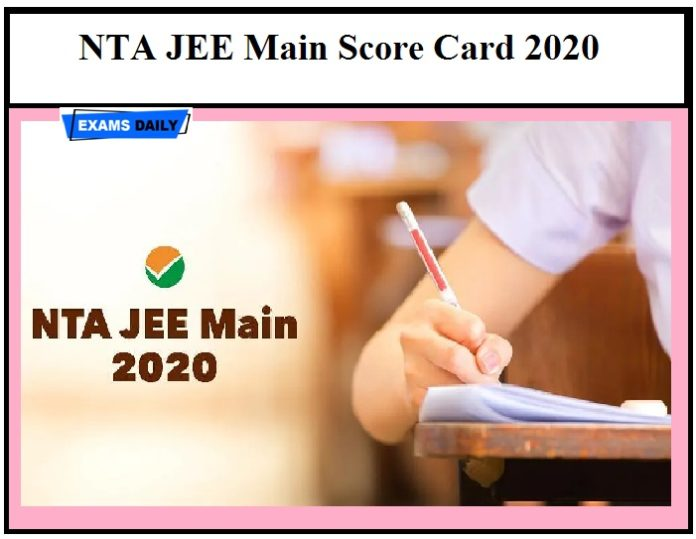 NTA JEE Main Score Card 2020 Released– Download for Paper 2 (B.Arch & B.Planning)