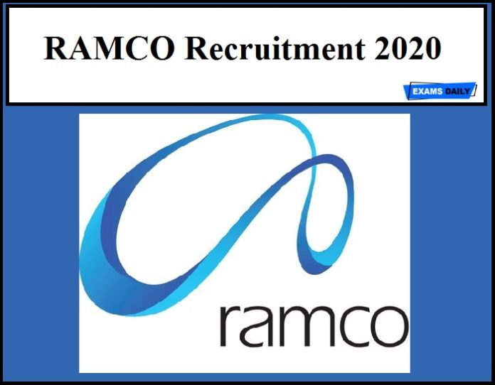 RAMCO Recruitment 2020