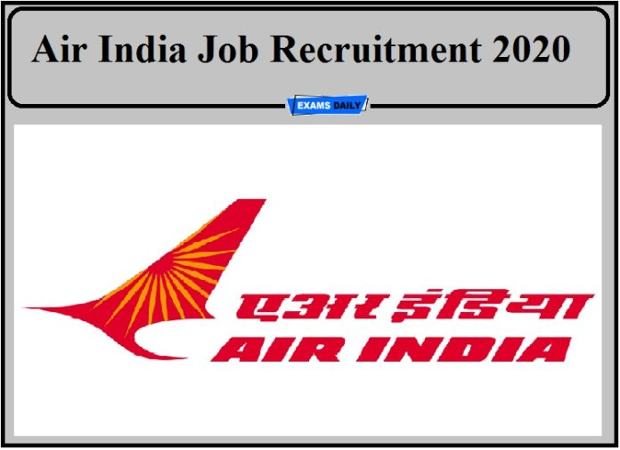 Air India Job Recruitment 2020 Out- Apply for Executive Post!!!