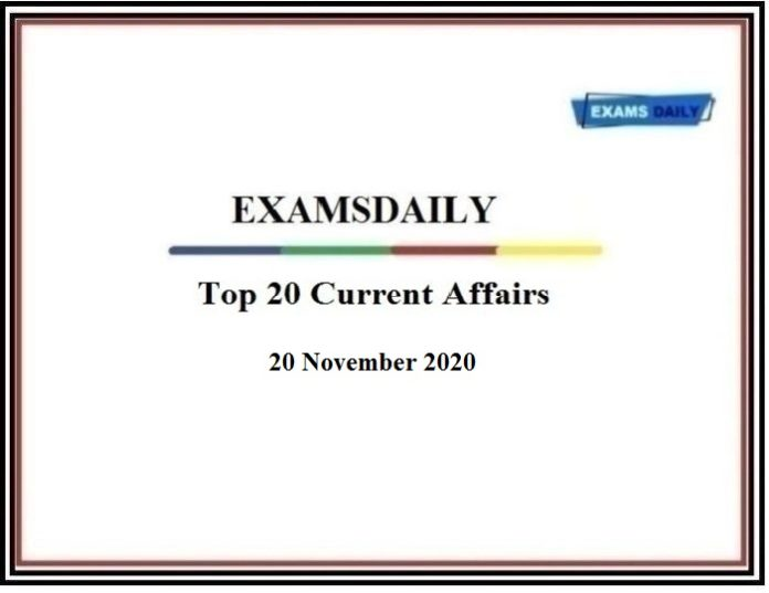 Top 20 CA of 20 November 2020