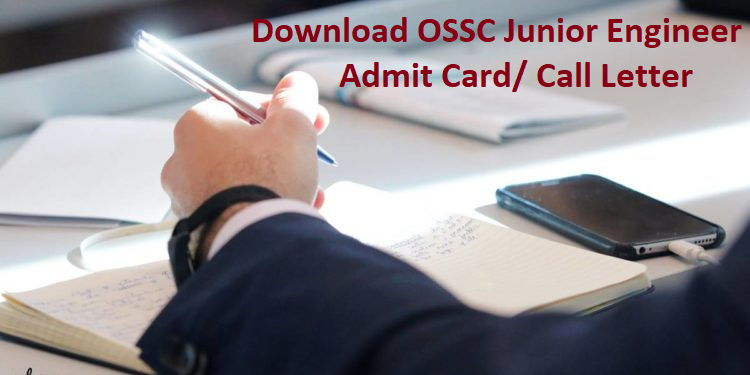 OSSC JE Admit Card
