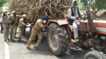 Farmer happy when IPS pushed his tractor to start