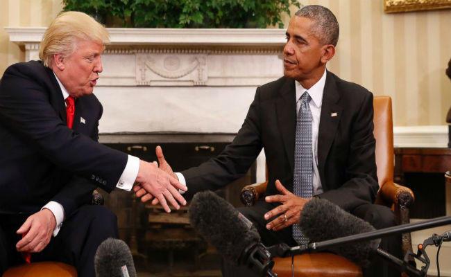 डोनाल्ड ट्रंप और बराक ओबामा