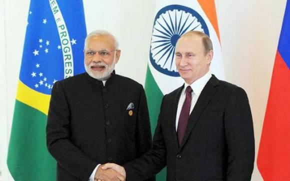 रुस प्रधानमंत्री ब्लादिमीर पुतिन और पीएम नरेंद्र मोदी
