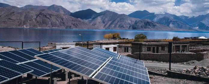 Solar Power plant Ladakh
