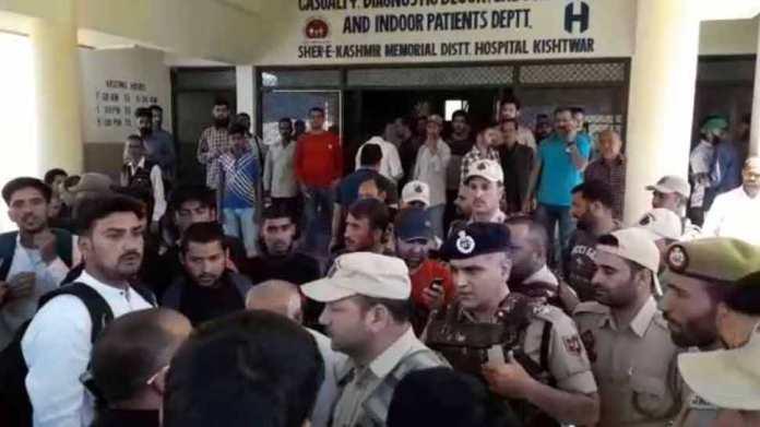 किश्तवाड़ा जिला का अस्पताल में आरएसएस नेता पर आतंकी हमला