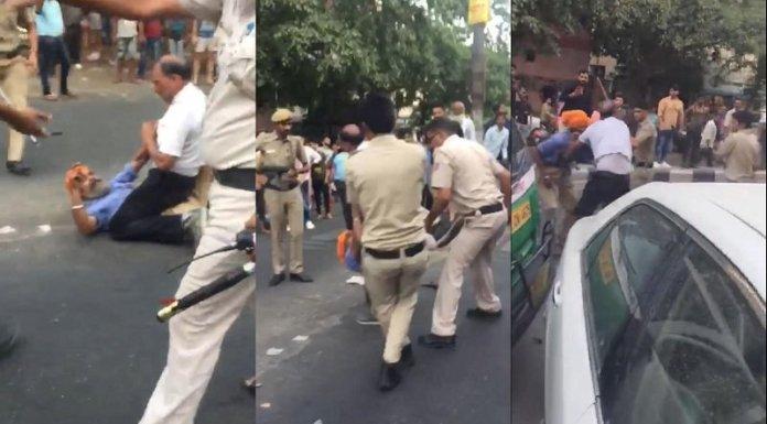 दिल्ली पुलिस vs टेम्पो ड्राइवर