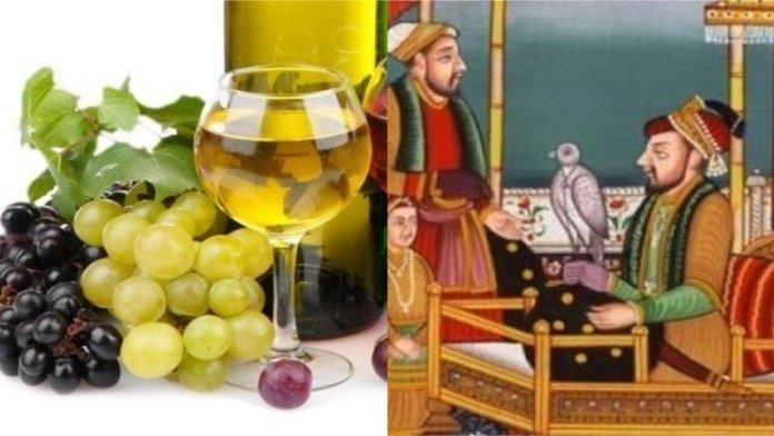 अंगूर, मुग़ल, इतिहास