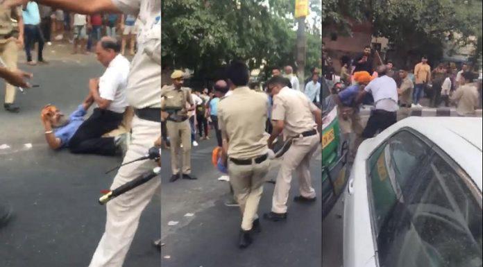 दिल्ली पुलिस, ऑटोड्राइवर, झड़प