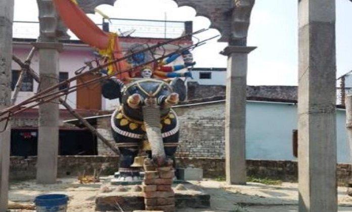 काली मंदिर, मूर्ति खंडित