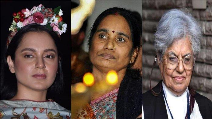 निर्भया की माँ, कंगना, इंदिरा जयसिंह