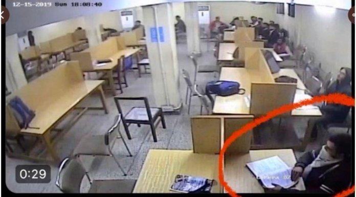 जामिया लाइब्रेरी CCTV फुटेज
