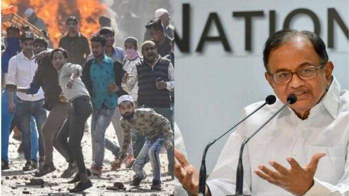 दिल्ली हिंसा, चिदंबरम
