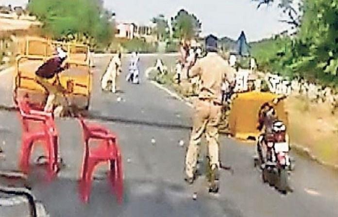 राजस्थान, पुलिस पर हमला