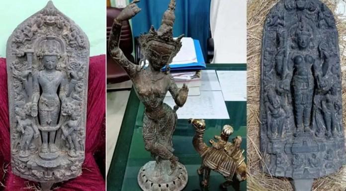 बंगाल प्राचीन मूर्तियाँ बरामद