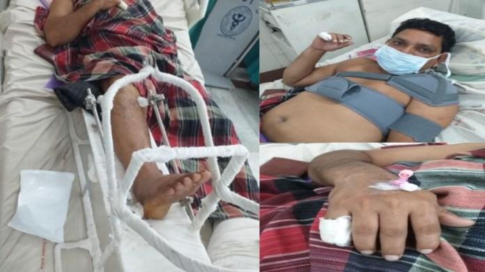 संगम विहार में कपड़ा व्यापारी पर हमला