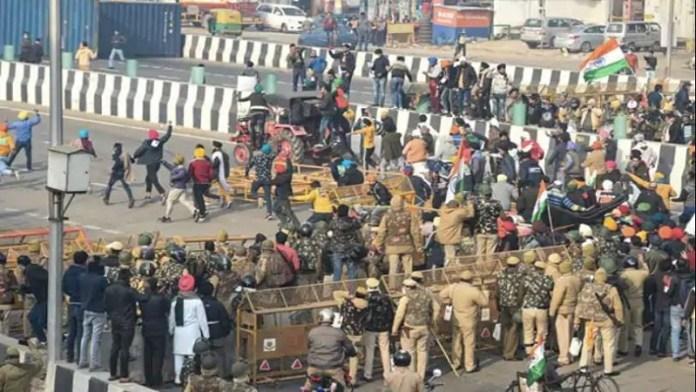 अराजक हुई 'किसानों' की रैली