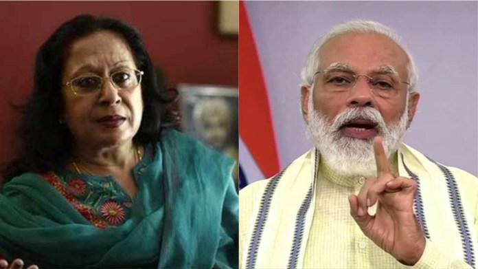 तवलीन सिंह और पीएम नरेंद्र मोदी
