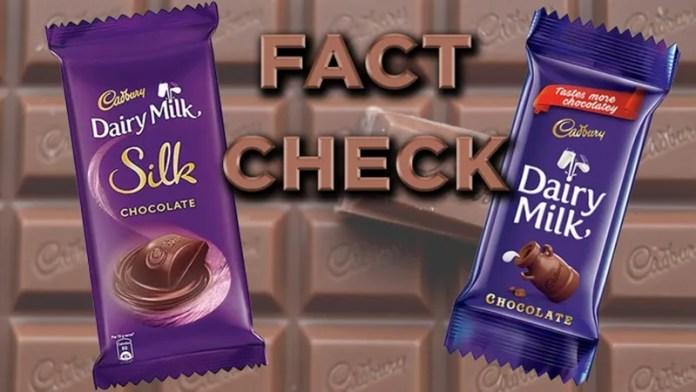 फैक्ट चेक कैडबरी चॉकलेट