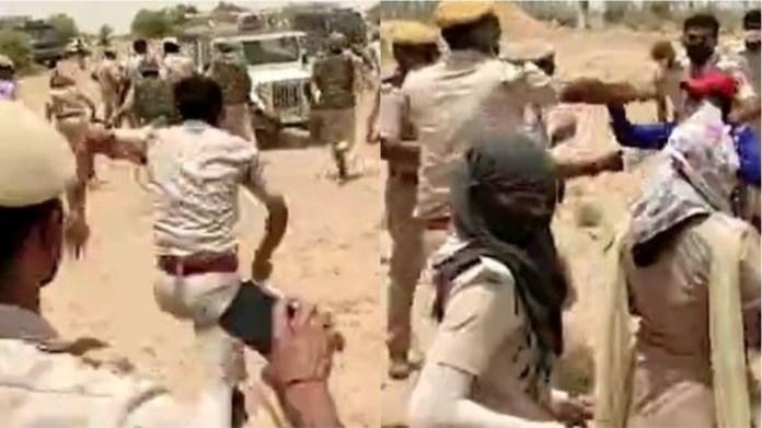 राजस्थान बीकानेर पुलिस लाठीचार्ज महिला सरपंच