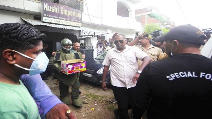 यूपी एटीएस द्वारा बरामद विस्फोटक