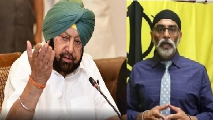पंजाब के CM कैप्टन अमरिंदर सिंह और राज्यपाल को खालिस्तान समर्थक पन्नू की धमकी