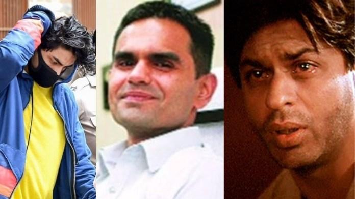 आर्यन खान, एनसीबी डायरेक्टर समीर वानखेड़े, शाहरुख खान