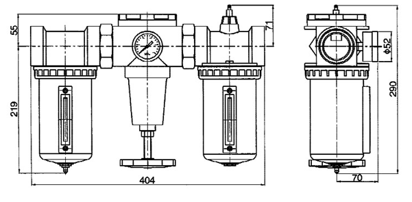Air Source Treatment Unit Filter and Regulator and