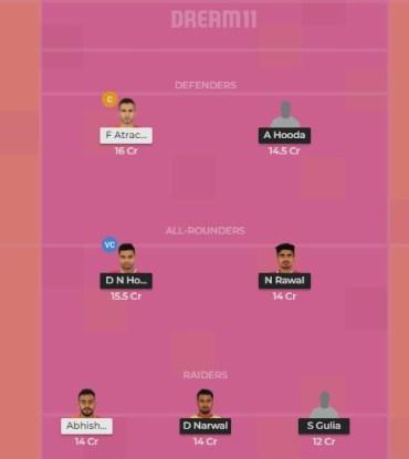 mum vs JAI Dream11 Team