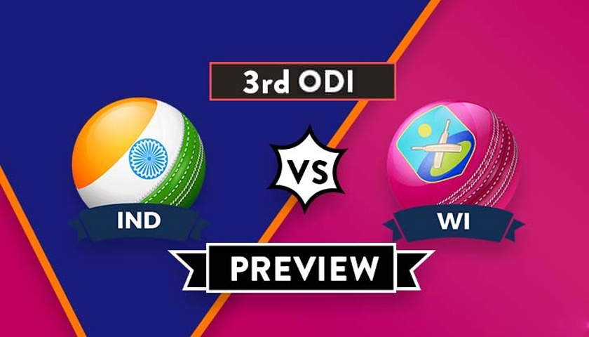 IND vs WI 3rd ODI Dream11 Prediction