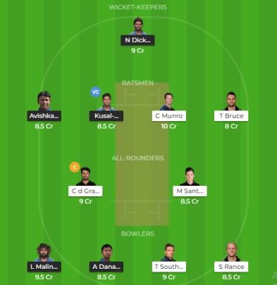 SL vs NZ 3rd T20I Dream 11