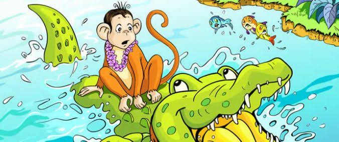 Monkey and The Crocodile Story in Hindi